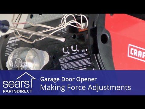 Garage Door Won't Open or Close: Force Adjustments