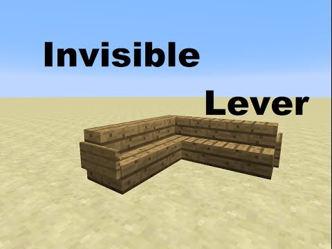 How to Make an Invisible Lever in Minecraft