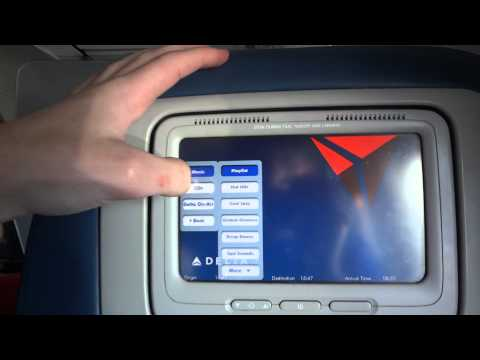 Delta In-Seat Entertainment Demo Delta on Demand on a 757