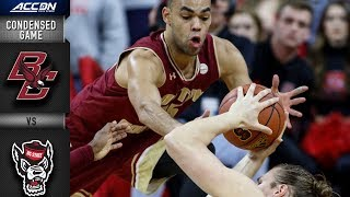 Boston College vs. NC State Condensed Game   2018-19 ACC Basketball