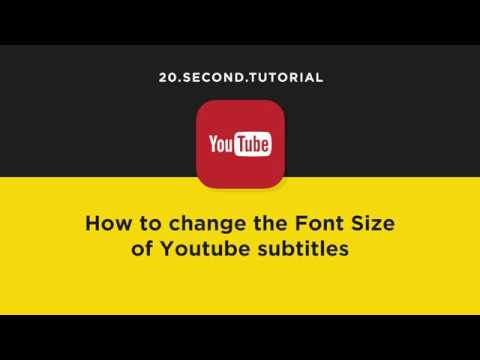 Change the font size of YouTube subtitles | YouTube Tutorial #10