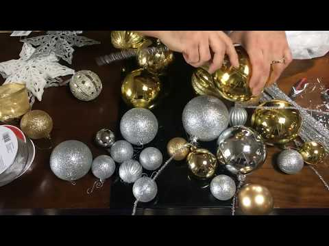 Christmas DIY / Ornament Clusters and Ribbon Waves / Dollar Tree Project / LIVE