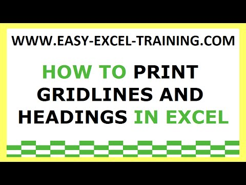Task 165 - How to print gridlines and headings in Excel - EXERCISES FOR BEGINNERS