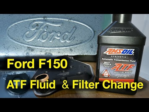 Ford F150 Automatic Transmission Fluid Change - AMSOIL Synthetic ATF WIx Filter