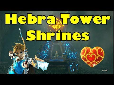 Breath of the Wild Hebra Tower Shrines