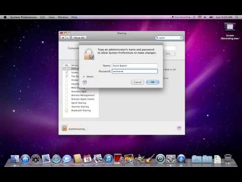 How To Change Your Computers Name In OSX