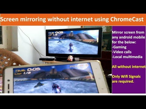 Using ChromeCast without internet | screen mirroring without internet