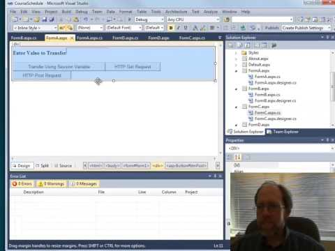 Web Programming - Passing Variables In Web Forms