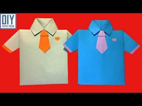 How to make an easy origami shirt paper | DIY origami shirt tutorials | DIY shirt paper design