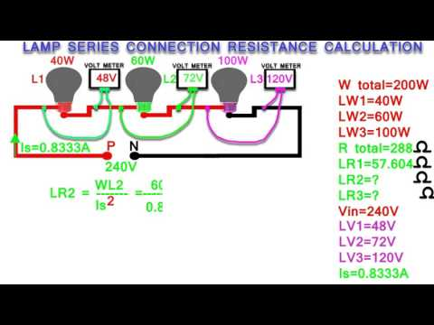 lamp series connection resistance calculation,how to calculate series connection resistance