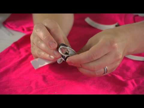 How to Decorate a Girl's T-Shirt With Ribbon : Preschool Crafts & More