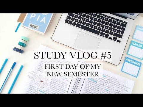 STUDY VLOG #5 - First Day of My New Semester