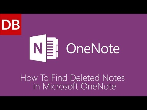 OneNote For Mac   How to Find Deleted Notes 1 Minute Tutorial