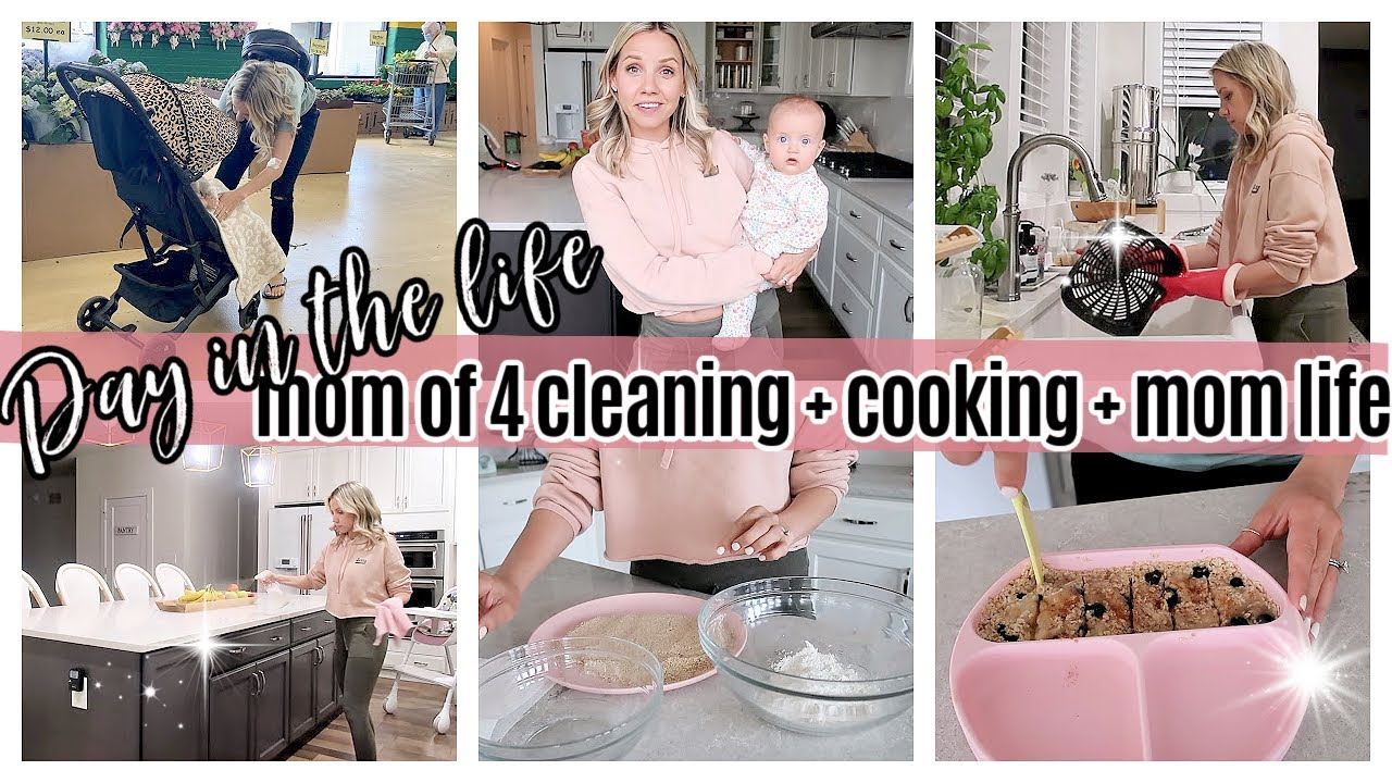 *NEW* DAY IN THE LIFE OF A MOM OF 4 COOKING CLEANING SAHM ROUTINE // TIFFANI BEASTON HOMEMAKING 2021