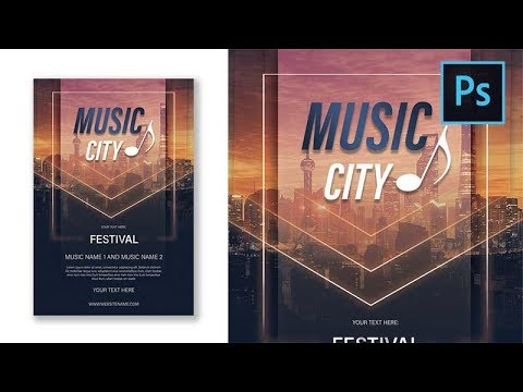 Music City Party Flyer Photoshop Tutorial