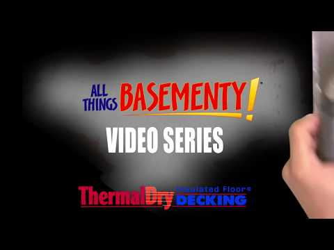 Thermal Decking for warm basement floors