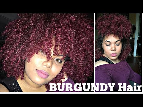 How I Dye My Natural Hair BURGUNDY! | Adore Semi-Permanent Dyes