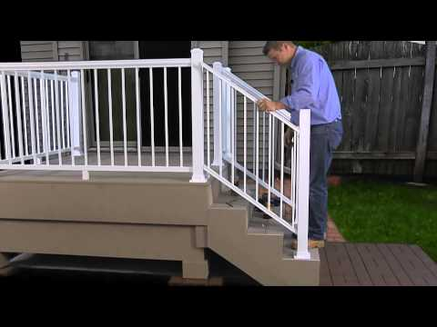 How To Install The Harmony Railing Aluminum Stair Panel