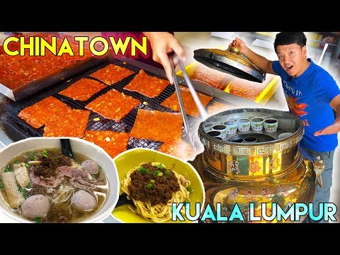 MIND BLOWING Street Food in CHINATOWN Kuala Lumpur Malaysia