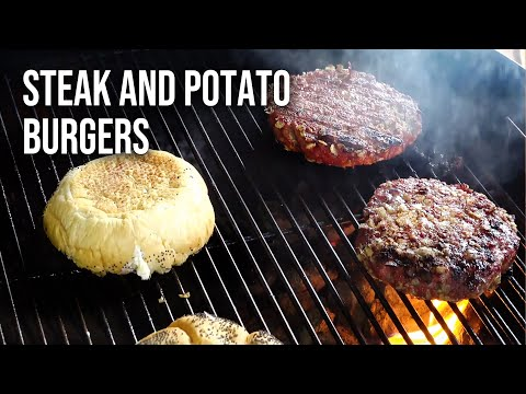Steak and Potatoes Burgers by the BBQ Pit Boys