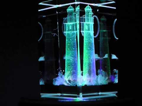 LIGHTHOUSE 3D LASER ETCHED CRYSTAL