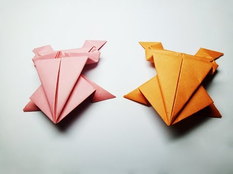 How to Make a Paper Frog - Easy Origami Frog That Jumps High - Paper Jumping Frog