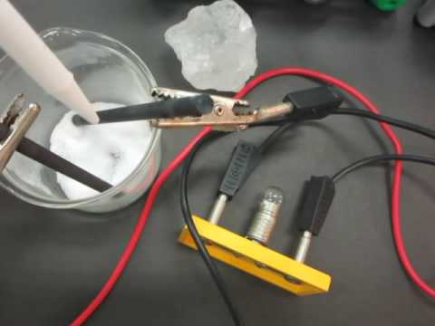 IGCSE Chemistry - Demonstrating the electrical conductivity of salt solution
