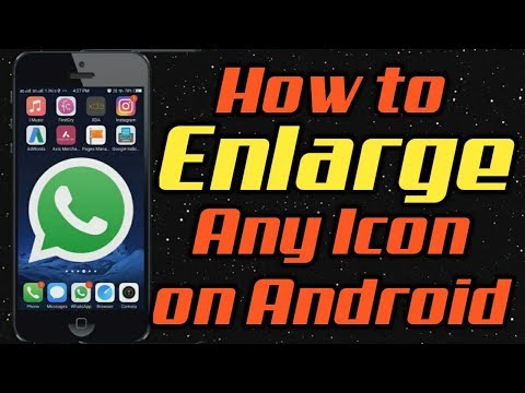 How to enlarge icons on samsung galaxy s8, Make Icons Bigger, Best Android Tricks 2017 #TechNews