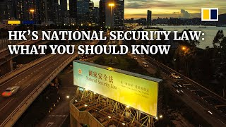 What you should know about China's new national security law for Hong Kong
