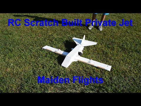 RC Scratch Built Private Jet: Maiden Flights