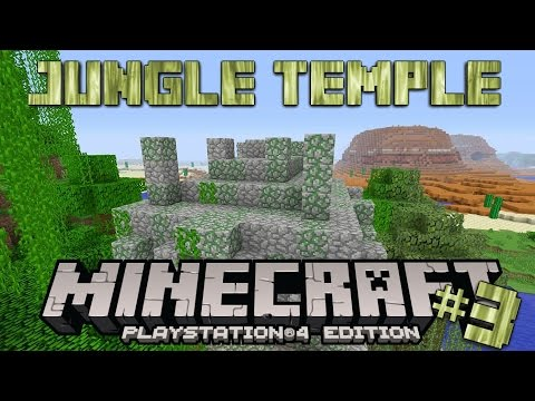 Minecraft PS4 Survival #3 | Jungle Temple Loot