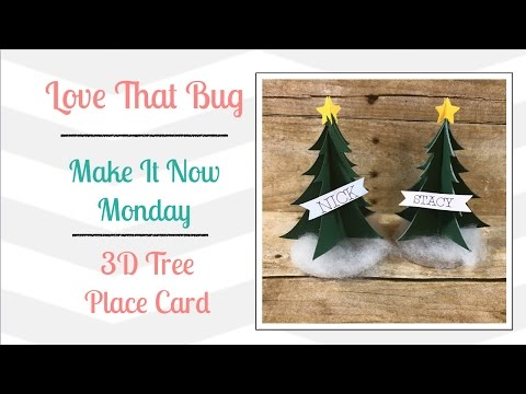 Cricut Explore | MIN | 3D Tree Place Card