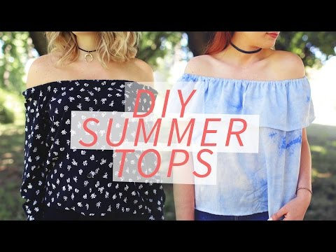 DIY OFF-THE-SHOULDER SHIRT | SUMMER DIY | THE SORRY GIRLS