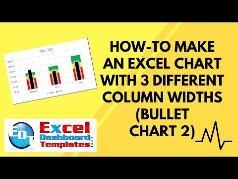 How-to Make an Excel Chart with 3 Different Column Widths (Bullet Chart 2)