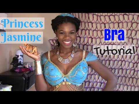 Cosplay Tutorial Princess Jasmine Bra- How to Cover a Bra