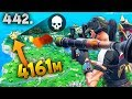 4161m NEW LONGEST RECORD KILL Fortnite Daily Best Moments Ep442 Fortnite Battle Royale Funny