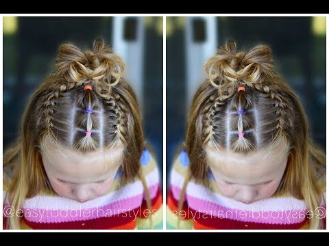 Front French Braids & Connected Ponytails