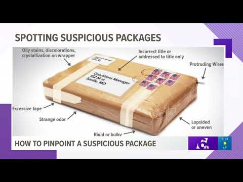 How to pinpoint a suspicious package