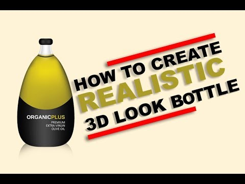 How to Create a Realistic 3D Bottle | Illustrator Tutorial ( Mesh Tool)
