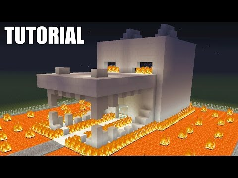 Minecraft Tutorial: How To Make A ENDER DRAGON SKULL! Survival House (ASH#29)