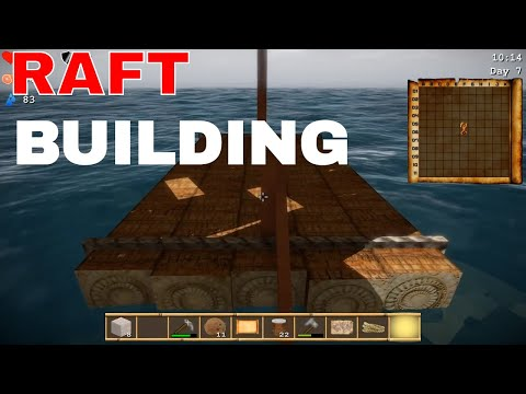 Cube island survival building the raft - Boatymcboatface is built | Let's Play Cube island survival