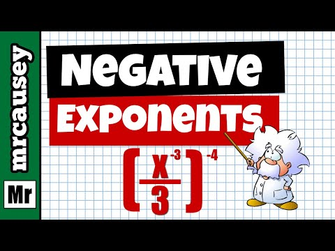 Negative Exponents | How to Simplify