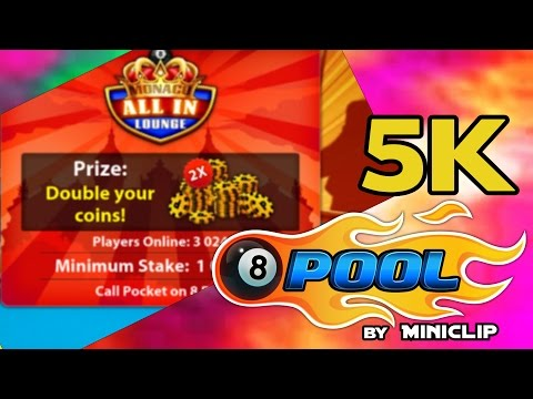 8 Ball Pool - Monaco ALL IN Lounge Game Best GamePlay