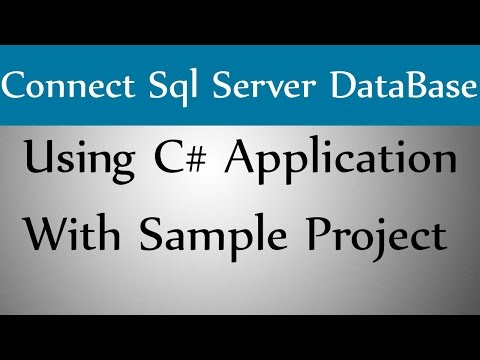 How to Connect Sql Server DataBase Using C#