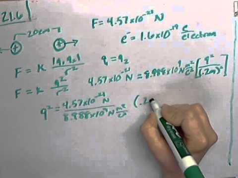 Using Coulomb's Law to find the number of electrons present (YF 21.6)