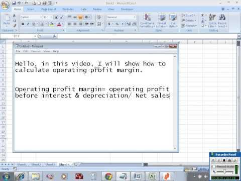 Calculate operating profit margin