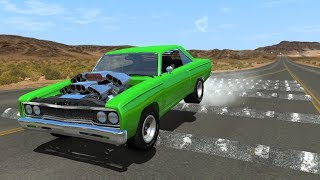 100+ Consecutive Speed Bumps High Speed Testing #9 - BeamNG DRIVE