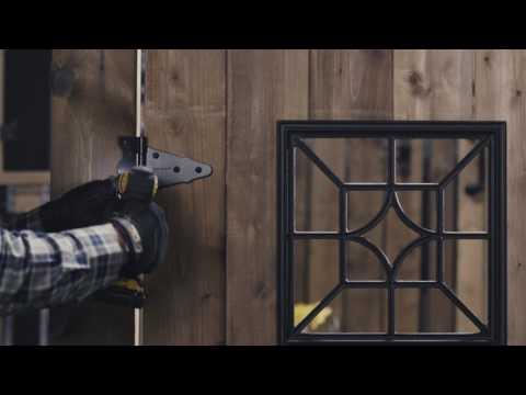 """Cómo instalar Bisagras en T de 6"""" y un Pestillo de Portón Resistente con Cable y Anillo"""