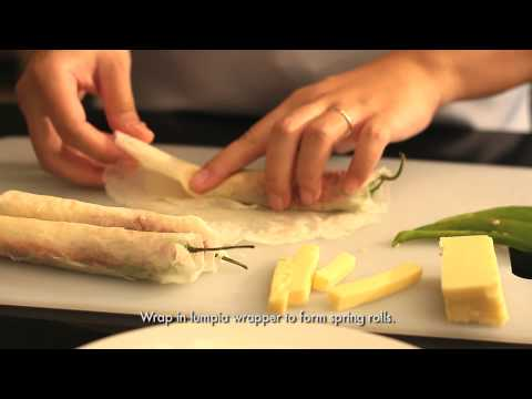 Home Foodie - Easy Cheese and Chili Spring Rolls