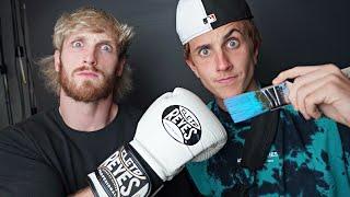 Surprising Logan Paul with Custom Boxing Gloves🥊, then Boxing Him.... (ft. Logan Paul)